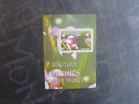 2007 GRENADA CARRIACOU BEAUTIFUL ORCHIDS OF THE WORLD STAMP MINI SHEET MNH #2