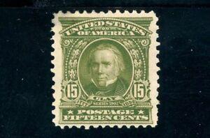 USAstamps Unused VF US Serie of 1902 Henry Clay Scott 309 OG MHR