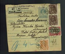 Constantinople Turkey Austria Hungary Multi Franking Registered Postcard Cover