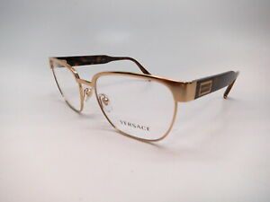 New Authentic Versace VE 1264 1460 Gold Eyeglasses 54mm