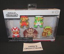 World of Nintendo 8-bit character Jakks Pacific set of 5 Mario Luigi Toad Donkey
