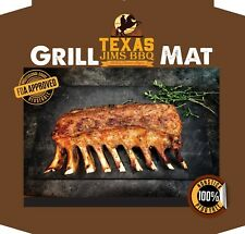 Texas Jim'sNonstick Bbq Grilling and Baking Mats Fda Approved 4 PackBlack
