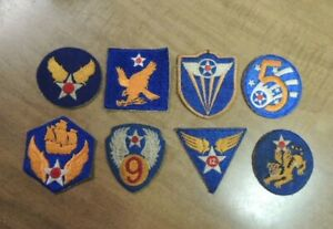 8 Different Original  US Army Air Corps Patches