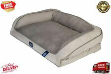New listing Memory Foam Fill Plush Sleep Surface Couch Extra Large Dog Bed 44 In 30 In Gray
