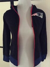 NWT NE Patriots Superbowl Winner Football NFL Zipper Hoodie Jacket Girls Sz 8 10