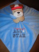 Blanket Puppy Dog Mommy's All Star Plush Baby Lovey Security Rattle Okie Dokie