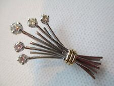 14kt Diamond Wheat Sheaf Pin Brooch Estate Jewelry Farmer Baker Brewer