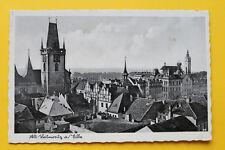 Tschechien CZ AK Alt Leitmeritz a Elbe 1930er Litoměřice Ortsansicht Häuser Turm