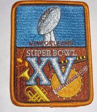 1981 Super Bowl XV (SB 15) PATCH Raiders vs Eagles Jim Plunkett MVP