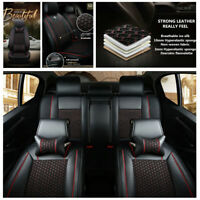 NEW 2018 styling Car seat Leather Cushion Ice Silk+PU seat cover For 5 Seat Car