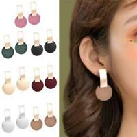 Fashion Statement Metal Geometric Women Boho Dangle Earrings Modern Jewelry 2019