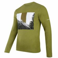 Dare2b Mens T Shirt Summer Running Gym Coalesce Cotton Graphic Long Sleeve Olive