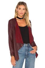 New Burgundy Asymmetrical leather jacket by BB Dakota.