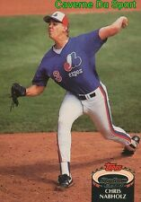 318  CHRIS NABHOLZ  MONTREAL EXPOS TOPPS BASEBALL CARD STADIUM CLUB 1992