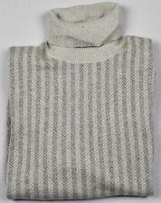 Ermenegildo Zegna Mens 100% Cashmere Knit Turtleneck Sweater Size 54 XL $890 NEW