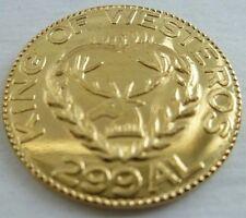 NEW Stannis Baratheon Golden Half-Dragon Coin Game of Thrones Brass Shire Post