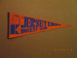 WHA Jersey Knights Hockey Club Vintage Circa 1973-74 Team Logo Pennant