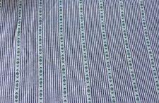 European Navy/Black Stripe Dobby Weave Linen