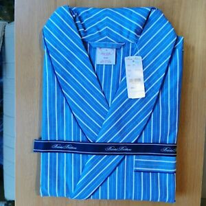 Brooks Brothers Men's All Cotton Traditional Fit Striped Bath Robe Small