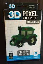 3D Pixel Puzzle - Tractor (green), 189+ pcs NEW