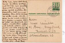 Suiza Entero Postal Circulado año 1958 (DL-590)