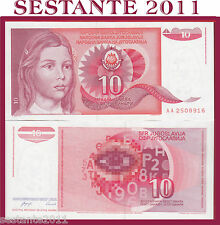 YUGOSLAVIA / JUGOSLAVIA  ,  10 DINARA 1990  Prefix AA,  P  103,    FDS / UNC