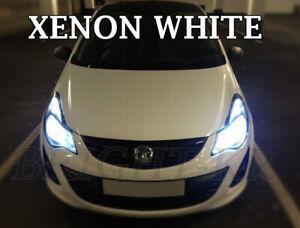 FOR VAUXHALL CORSA C D SUPER XENON 7500K WHITE HEADLIGHT LAMP LIGHT BULBS