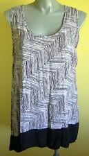 Ladies Womens Casual Sleeveless Hi Low Hem Blouse Top Shirt Avella Size 18