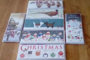 8 x christmas cards assorted designs new in pack 20cm x 8cm