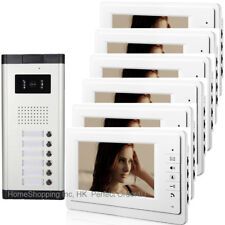 "WIRED 7"" VIDEO DOOR PHONE INTERCOM SYSTEM VIDEO INTERCOM FOR APARTMENT 6 UNITS"