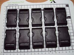"""10pcs. Plastic Side Release Buckles For Webbing 25mm Bags Straps Clips  """"B"""""""