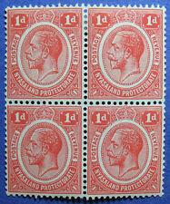 1916 NYASALAND 1d SCOTT# 13 S.G.# 86 UNUSED BLOCK OF 4                   CS08715