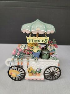 "San Francisco Music Box Company ""Somewhere in Time""  Flower Cart Rare HTF"