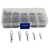 210pcs Metal Clasp Swivel Trigger Clips Snap Fishing Connector Ring DIY Craft US