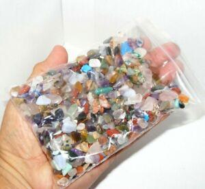 500 x Extra Small Mixed Polished Mini Chip Tumblestones AGrade Crystal 6mm-10mm