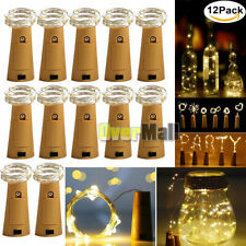 6/12Pack Cork Shaped 30LED Copper Wire String Light Wine Bottle For Xmas Decor