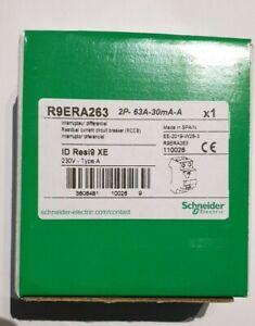 1X SCHNEIDER Resi9XE Interrupteur différentiel 63A 30mA typeA auto 230V R9ERA263