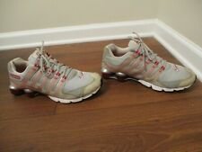 Used Worn Size 11.5 Nike Air Shox NZ 2.0 Shoes Gray Red White Black