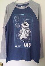Star Wars The Force Awakens BB-8 Droid Mad Engine Raglan T-Shirt Adult L Large
