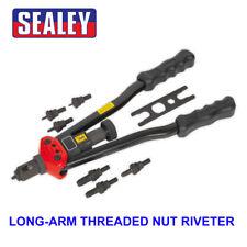 Sealey Roscado tuerca/remache roscado brazo Largo Remachadora/Remachado Insertar Kit M3-M12 AK3985