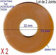 Lot de 2 Joints de Chasse,Mécanisme Type JACOB DELAFON,Caoutchouc Para,73x32x4