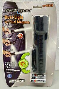 NightStick 130 Lumen Waterproof Dual-Light Magnetic LED Flashlight NSP-2422B