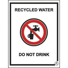 Holman COLORBOND RECYCLED WATER TAP SIGN 92x75mm Steel, BLACK & WHITE *AUS Brand