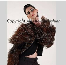 One of-a kind Bob Mackie ostrich jacket bolero. Theatrical Details Sz M US 6
