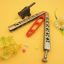 Practice BUTTERFLY ALL STAINLESS Knife Trainer Fly Balisong Bali with Pouch