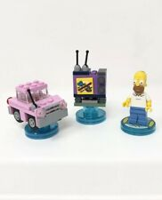LEGO Dimensions 71202 The Simpsons Homer Car TV Television Tag Discs - Authentic