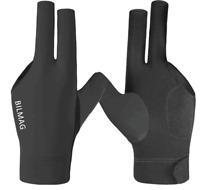 Billard Handschuh, BILMAG, 3-Finger, schwarz, Spandex Elasthan Pool Snooker