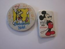 Mickey Mouse & Goofy Disneyland Hotel Vintage Pins Set Of 2 Collectibles