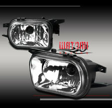 01-06 MERCEDES-BENZ C-CLASS W203 BUMPER FOG LIGHTS CHROME 02 03 04 05 W/BULB SET