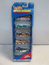 Hot Wheels 5 Car Gift Pack Speed Demons w mint green racer